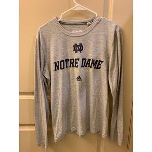 Notre Dame Adidas Long Sleeve